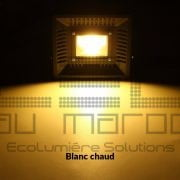 Projecteur LED 50W ultraslim blanc chaud