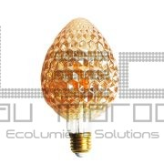 Ampoule led G95 strawberry filament 4w amber  dimmable